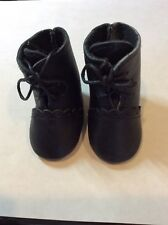 """Repro or Modern Doll 2"""" Double Strap Light Brown Leather Shoes for Antique"""
