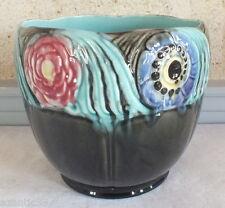 ancien cache pot barbotine Orchies faience  flowerpot