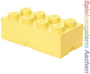 LEGO Storage Brick 8 COOL GELB Stein 2x4 Aufbewahrung Dose Box Kiste 8