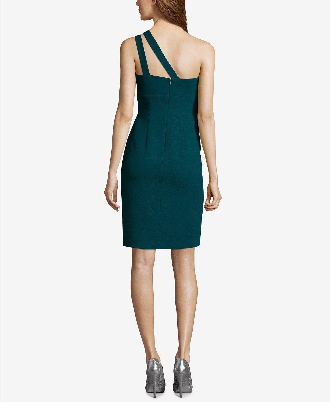 NEW  240 XSCAPE WOMEN'S GREEN GREEN GREEN ONE-SHOULDER CUTOUT SHEATH DRESS SIZE 14 be64e3