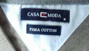 Size-M-Golf-Sleeveless-Pullover-CASA-MODA-Pima-Cotton-Beige-Grey-Casual-NEW