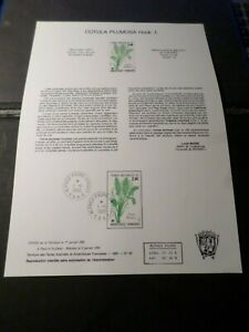 TAAF-DOCUMENT-NOTICE-FDC-1986-timbre-118-FLORE-PLANTES-COTULA-FLOWERS