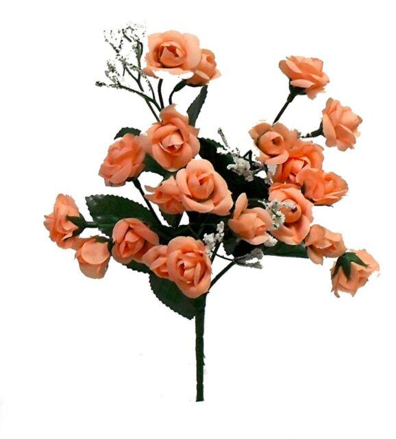 20 Mini Open Roses MANY COLORS Wedding Centerpieces Bridal Bouquet Silk Flowers