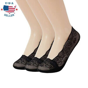 New-Anti-slip-Silicone-Lace-Invisible-No-Show-Low-Cut-Liner-Boat-Socks-For-Women