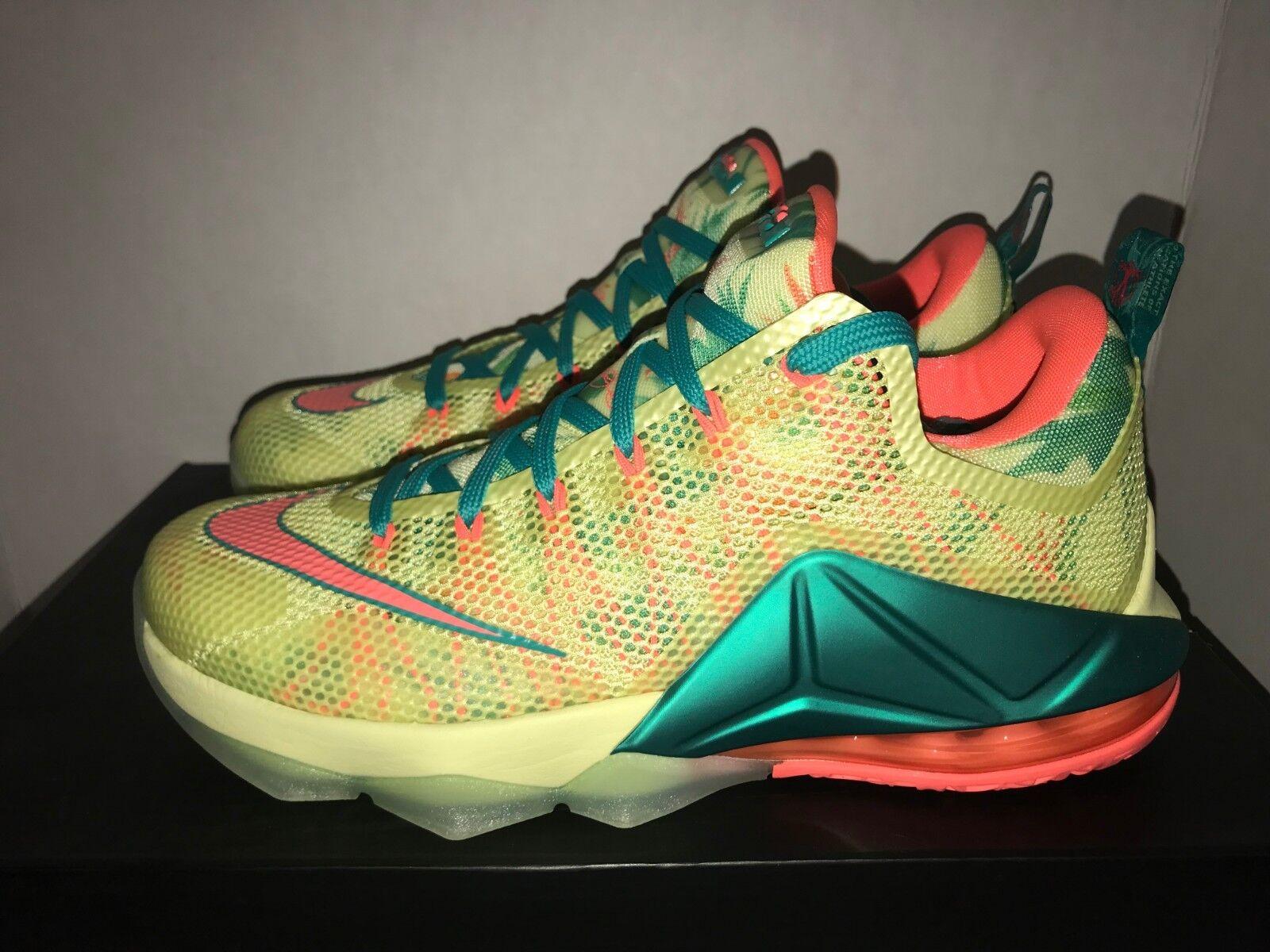 Nike LeBron XII Low LeBronald Palmer QS Men's Size 8.5 9.5  DS 776552 383