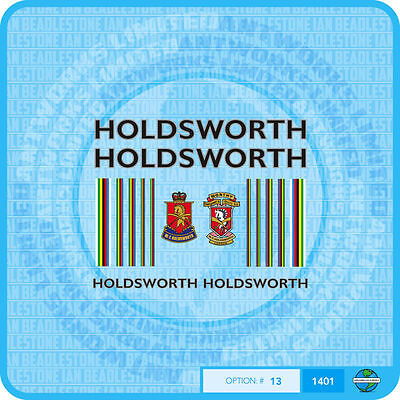 Holdsworth Bicycle Decals Transfers Stickers Black Fill /& Silver Key Set 19