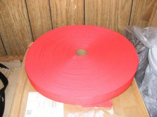 "WEBBING STRAP BELT FABRIC 100 Yard Large roll 1.5/"" w  RED BLUE Ribbon Material"