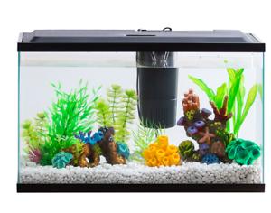 Aquarium Starter Kit Fish Tank 10 Gallon LED Light Aqua Culture with LED Light