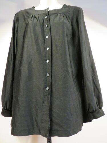 Vintage 1980s Black Smock Shirt Blouse Northern So
