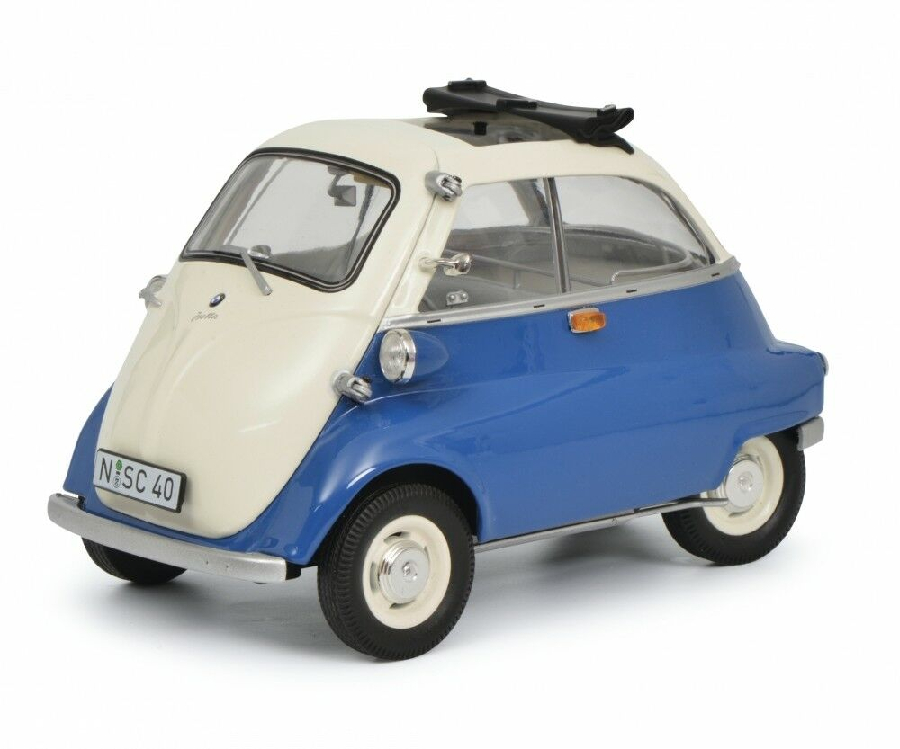 Schuco 1 18 BMW Isetta Export bluee grey 450041100