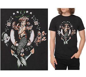Disney little mermaid ariel sebastian flounder tattoo for Tattooed ariel shirt