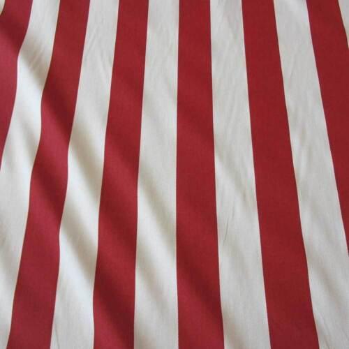Sustancia METERWARE algodón bloque rayas rojo blanco a rayas cortina canadá nuevo