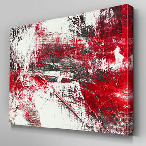 ab904 modern blood red black white canvas wall art abstract picture