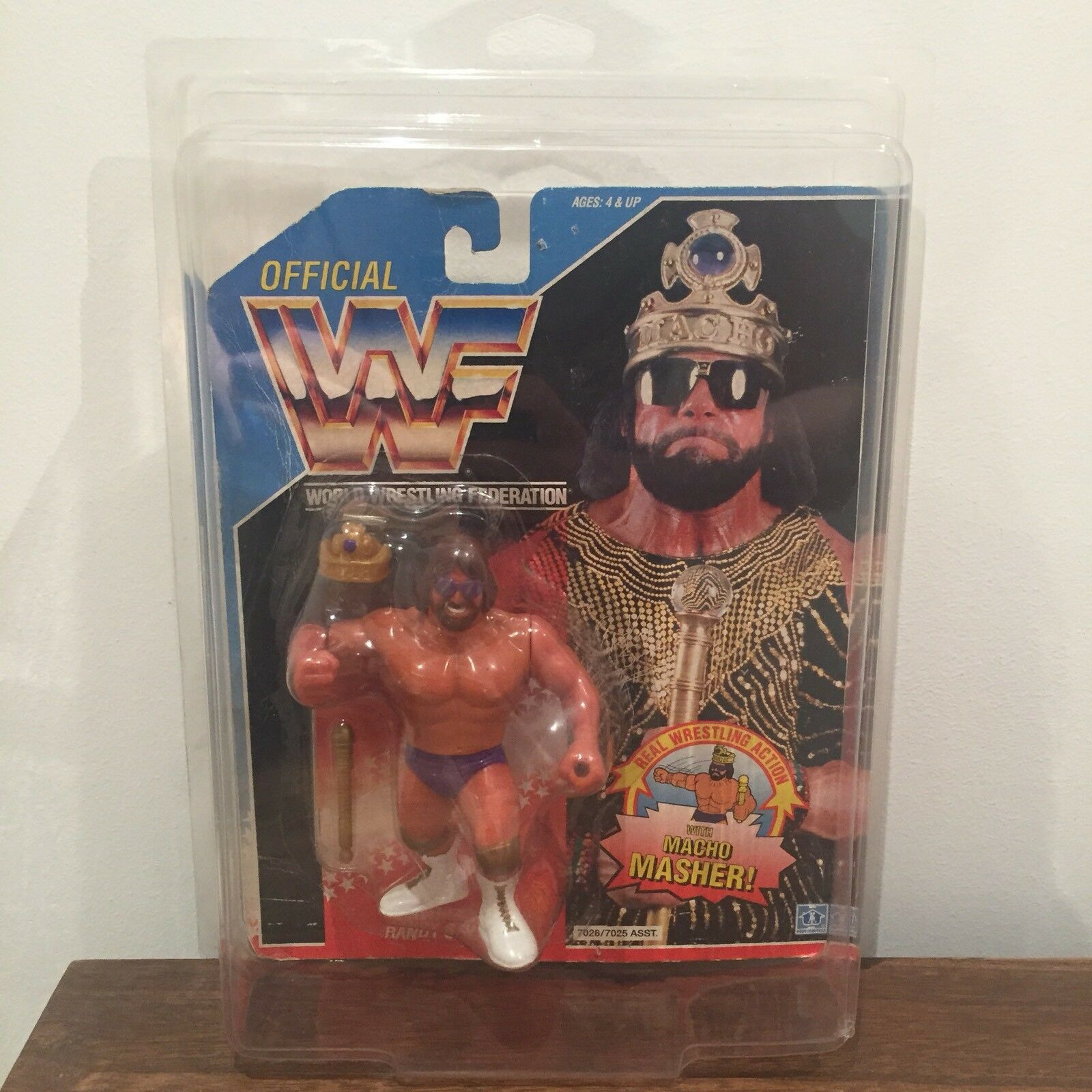 WWF/WWE 'Macho King' Randy Savage Hasbro Action Figure 1991 Series 2 with case
