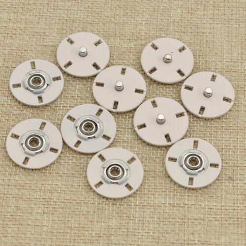 5 un 20mm Metal Redondo Botones de prensa Snap Sujetadores Hágalo usted mismo coser accesorios de vestir