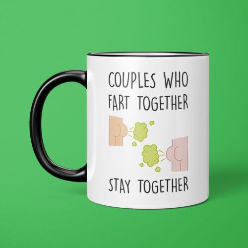 Les couples qui pêtent Ensemble Blague deux tons Mug-Anti Cadeau Saint Valentin