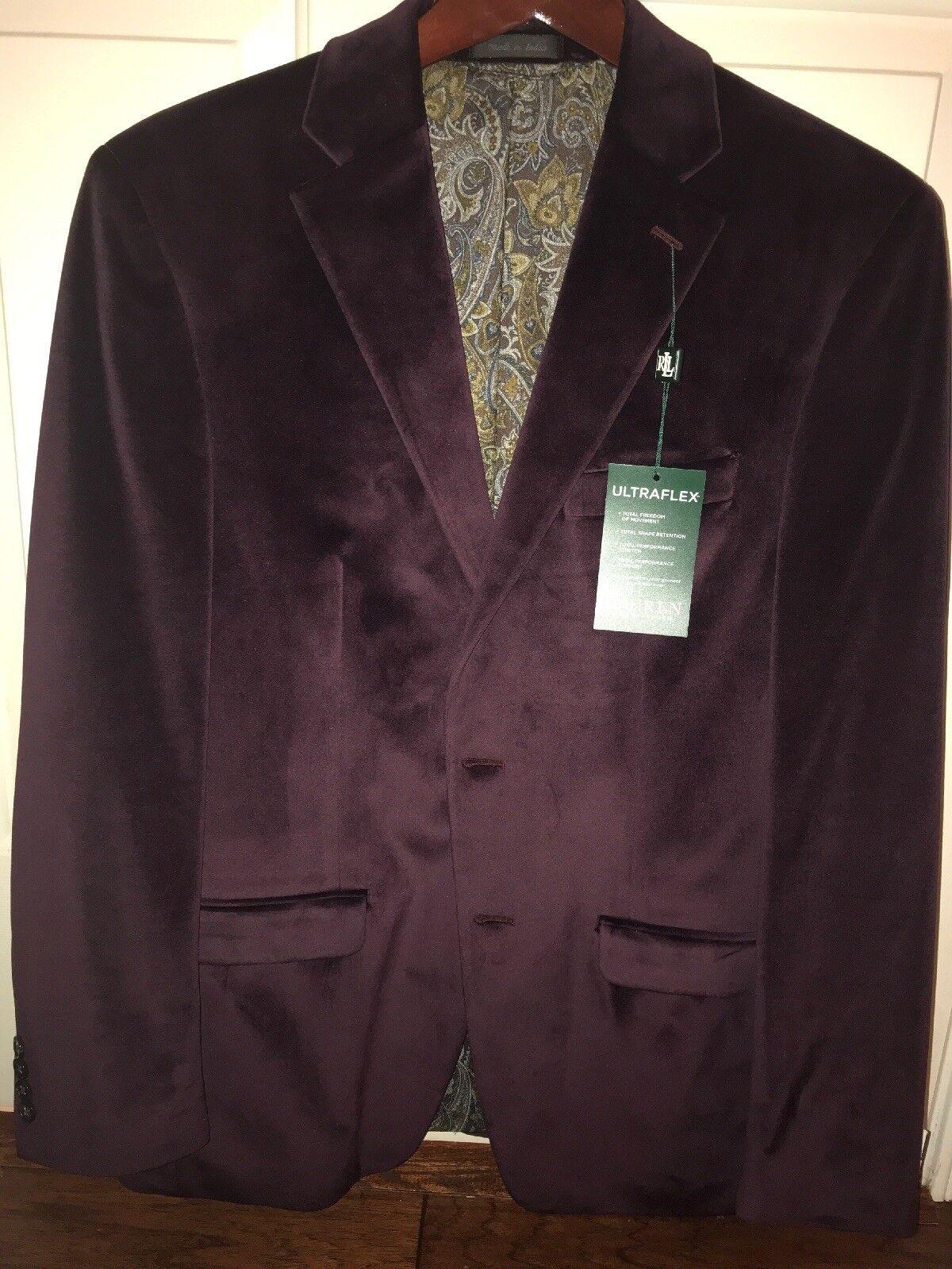 LAUREN BY RALPH LAUREN NEW Purple Mens Size 38 R Two Button Blazer