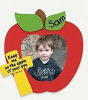 4 Apple Inspirational Photo Frame Foam Craft Kit Self-adhesive Great For Kids