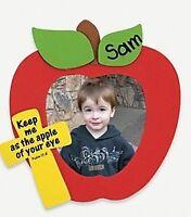 4 Apple Inspirational Photo Frame Foam Craft Kit Self-adhesive Great For Kids