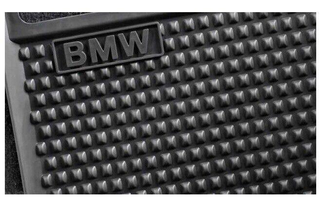 Original BMW 5er GT Gummi Fussmatten hinten F07 Matten schwarz NEU 51472152367 M
