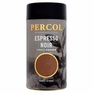 PERCOL RAINFOREST ALLIANCE ESPRESSO NOIR INSTANT COFFEE - 100g (1 - 6 Tubs)