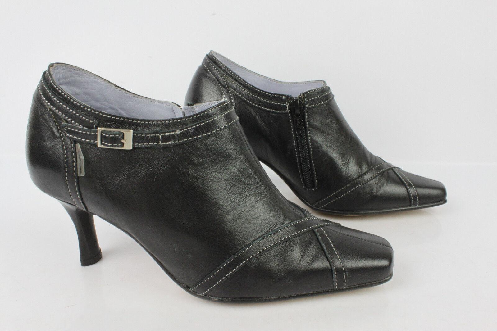 botas botas botas IRRELLE cuero Negro Forrado cuero Malva T 37   36 MUY BUEN ESTADO  venta caliente