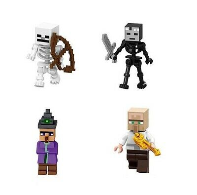 Redstone Golem Zombie Enderman Skeleton Spinning Blaze Building Toys Minifigure