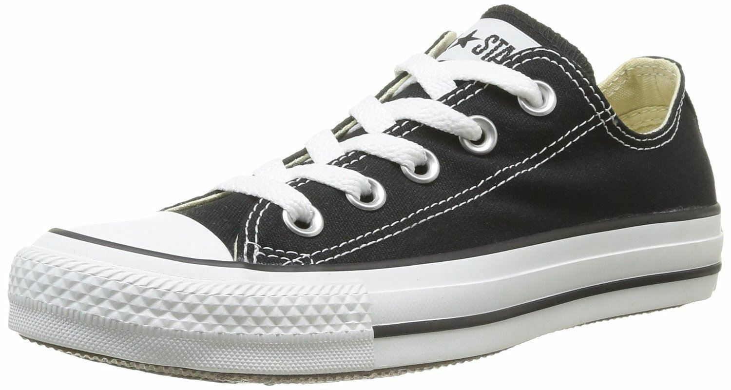 Converse Chuck Taylor All Star Noir Blanc Ox Lo Unisex Trainers Chaussures