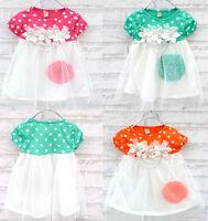 Baby Girls Polka Dot Candy Color Summer Dress Kids One-piece Dress Skirt 0-3Year