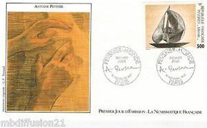 1987-ENVELOPPE-FDC-1-JOUR-OEUVRE-D-039-ANTOINE-PEVSNER-TIMBRE-Y-T-2494