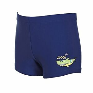 6b0ffb41d9 Zoggs Junior Boys Swimming Trunks Hip Racer Navy for 1-6 Years Kids ...
