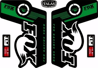 Suspension Factory Style Decal Kit Sticker Adhesive Set Green FOX TALAS Forks