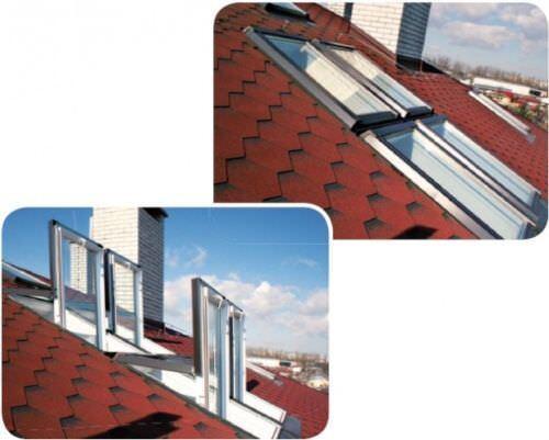 Kunststoff Dachfenster SKY 55x78 66x118 78x118  94x140 SKYFENSTER ROLLO