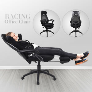 Terrific Details About Office Computer Racing Gaming Chair High Back Ergonomic Recliner Seat W Footrest Forskolin Free Trial Chair Design Images Forskolin Free Trialorg