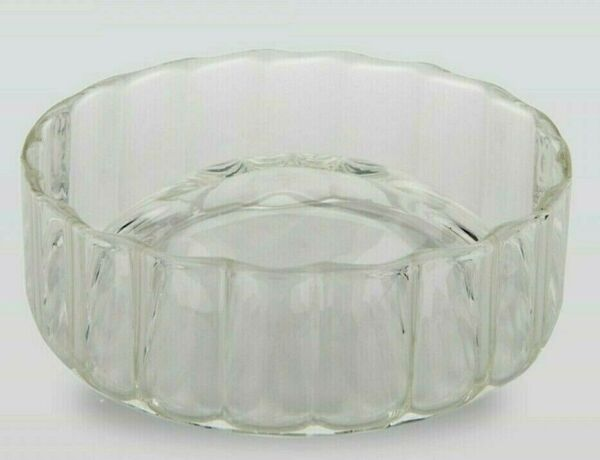 $175 New Waterworks Flute Soap Dish In Clear Glass Made In Italy