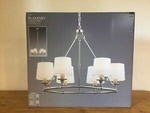 Next blakeney 6 light fitting chandelier rrp 170 ebay image is loading next blakeney 6 light fitting chandelier rrp 170 audiocablefo light catalogue