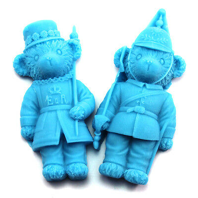 R1090 Nicole 3D Bear Common Soldier Handmade Silicone Soap Form Resin,Clay Molds