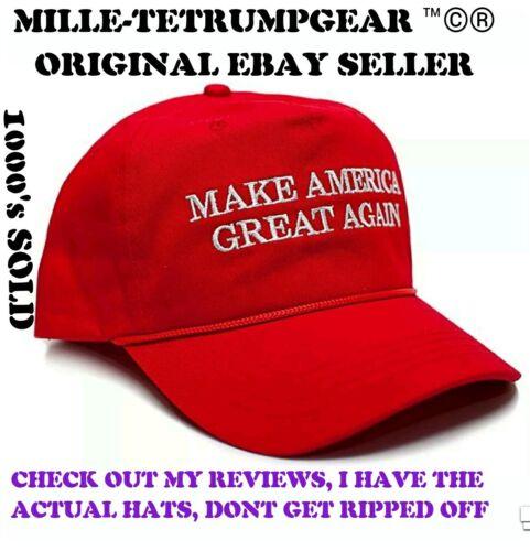 Donald Trump AUTHENTIC Make America Great Again rope hat OFFICIAL cap