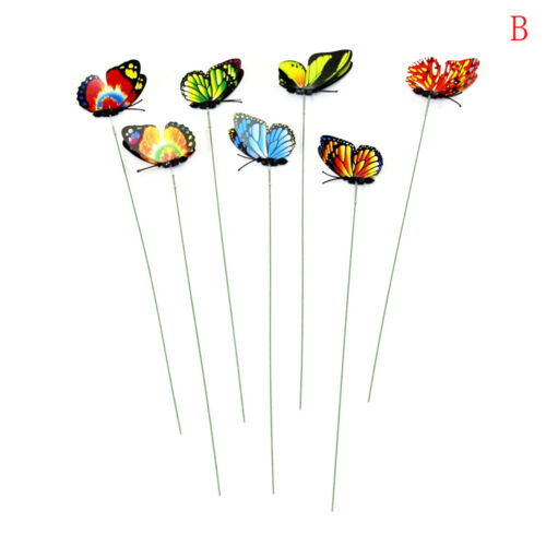 15pcs artificial butterfly garden decorations simulation stakes yard plant UK