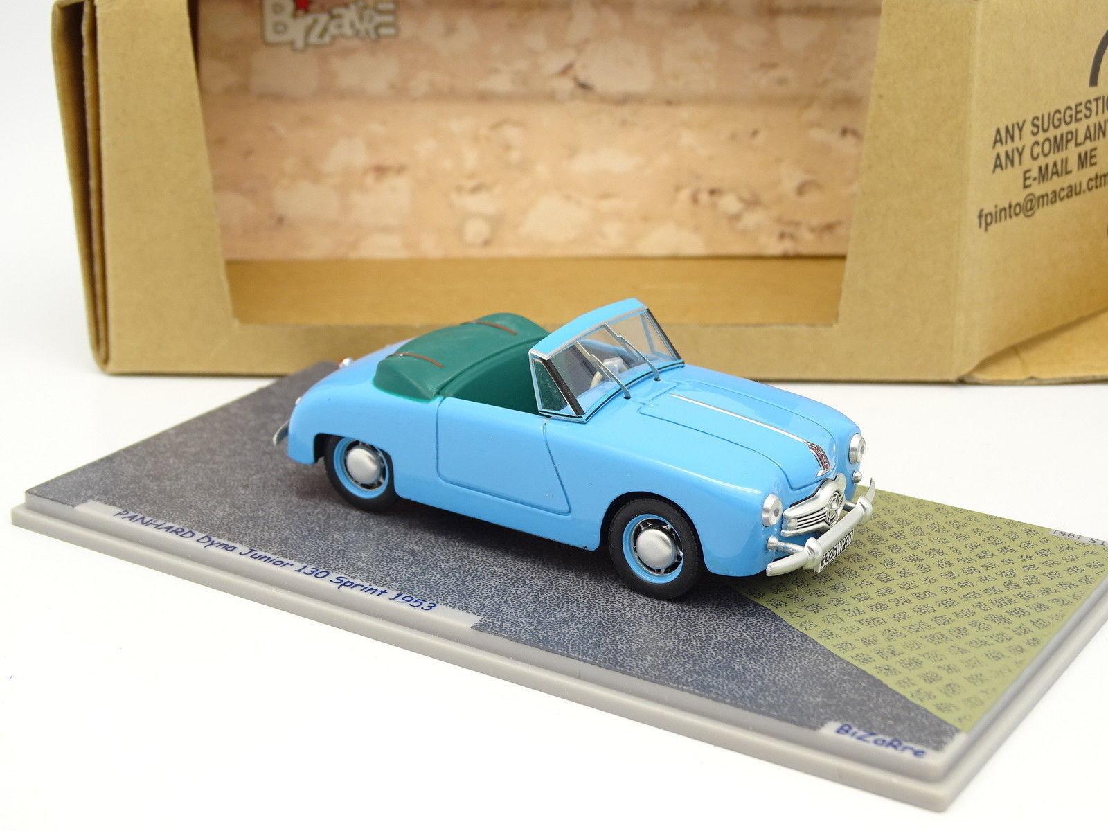 sconto di vendita Bizarre Resina 1 43 - Panhard Dyna Junior 130 Sprint Sprint Sprint 1953 Blu  le migliori marche vendono a buon mercato