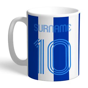 Contemplatif Brighton & Hove Albion F.c - Personalised Ceramic Mug (retro Shirt) En Voyageant