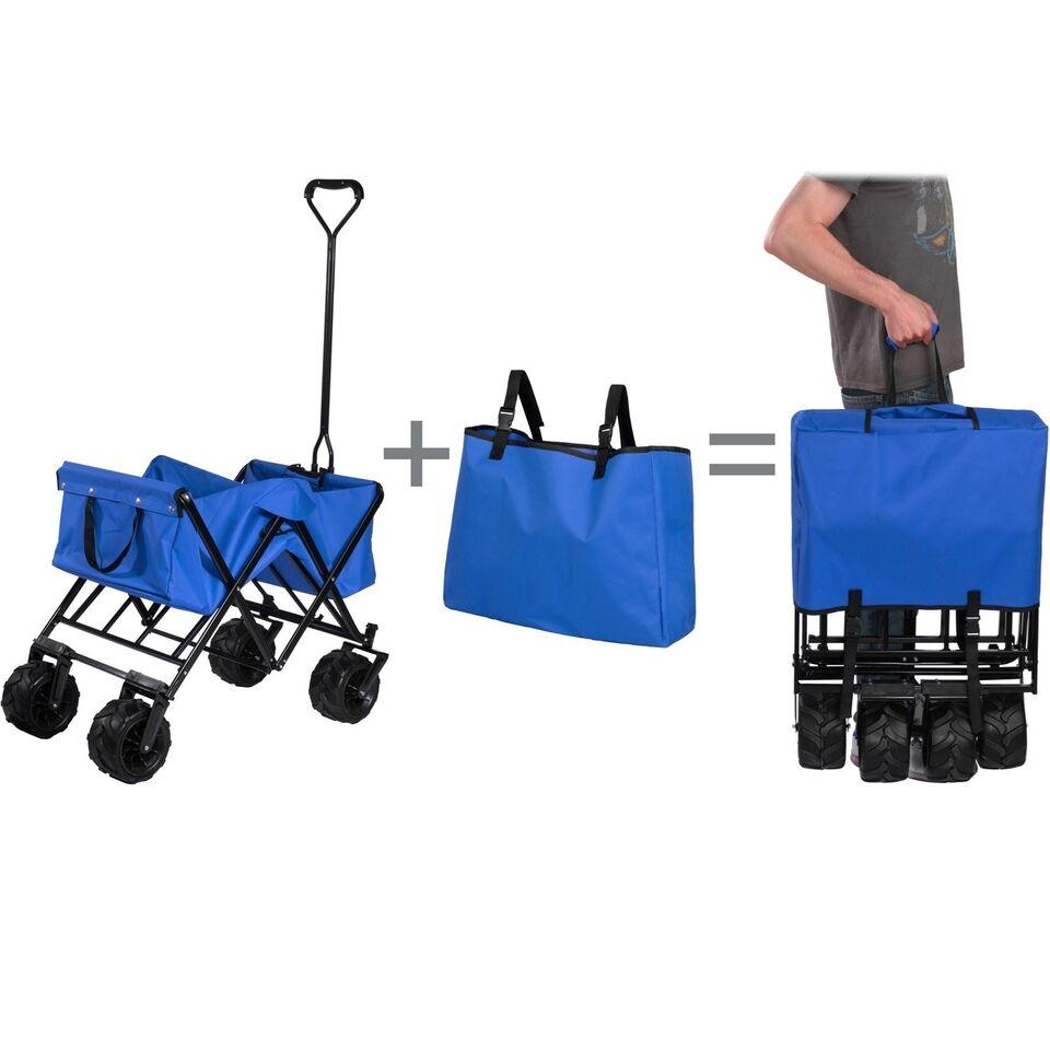 Foldelig trækvogn Heidrun blå