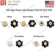 5pcs 5w White Royal Blue Orange Uv Violet Rgb High Power Led Chip Cob Lights Pcb