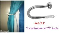 Curtain Holdback U Arm Pair Draperies Tieback Scarf Holder Hardware Hook Window