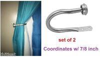 Curtain Holdback U Arm Pair Draperies Tieback Scarf Holder Hardware Hook Window
