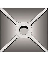 Bosch Hs1828 5-inchx 5-inch Tamper Plate (requires Seperate Shank), New, Free Sh