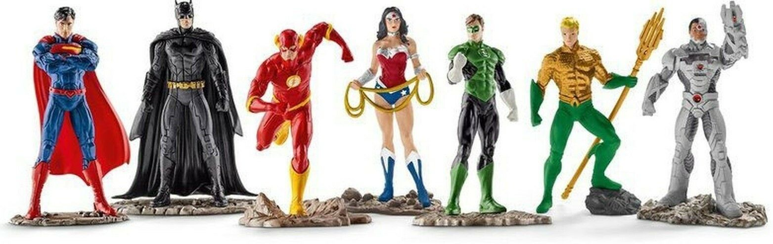 Justice League Figurine x7 Jeux Héros Dc Comics Collection Jouet Schleich 22528