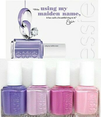 ESSIE Nail Lacquer - Using My Maiden Name- Wedding 2013- All 4 Shades 833-836