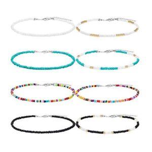 Halsband-Winzig-Perlen-Choker-Boho-Bunt-Halsband-Kette-Schmuck-Re