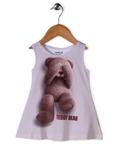 Dark Brown Girls Frock Dress CUTE Teddy Bear Print Kids Size 000,00,0,1,2,3